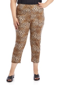 Karen Kane Leopard Print Piper Pants (Plus Size)