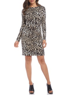 Karen Kane Leopard Print Sheath Dress