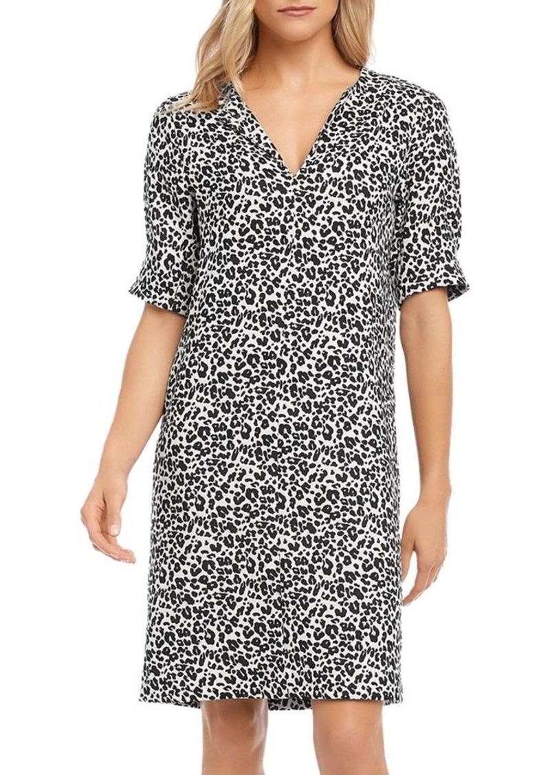 Karen Kane Leopard-Print Shift Dress