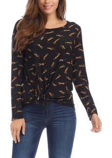 Karen Kane Leopard Tie Front Top