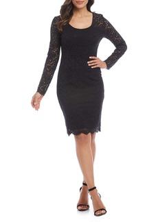 Karen Kane London Long Sleeve Lace Cocktail Dress