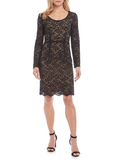 Karen Kane London Long Sleeve Lace Cocktail Dress