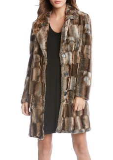 Karen Kane Long Faux Fur Coat