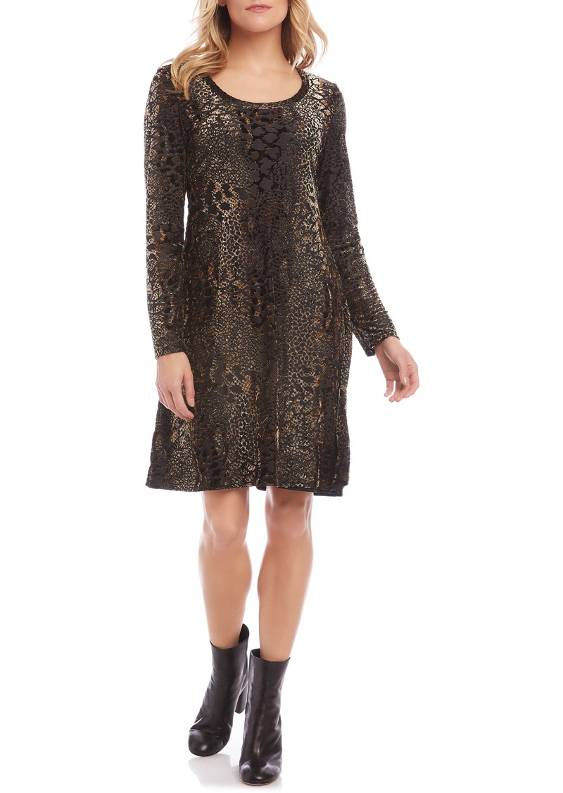 Karen Kane Long Sleeve Burnout Dress