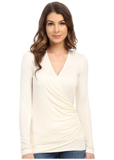 Karen Kane Long Sleeve Faux Wrap Top
