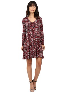 Karen Kane Long Sleeve Fit & Flare Dress