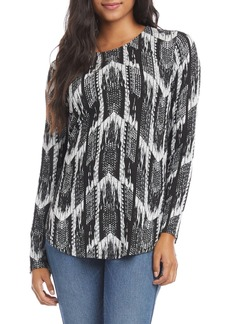 Karen Kane Long Sleeve Jacquard Top