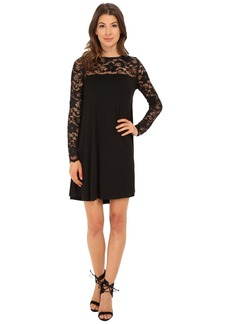 Karen Kane Long Sleeve Lace Yoke Swing Dress