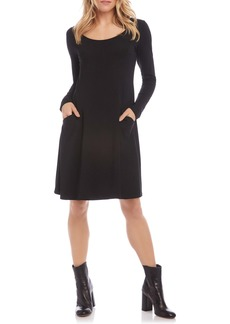 Karen Kane Long Sleeve Pocket Dress