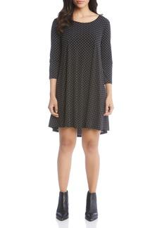 Karen Kane Maggie Dot Print Babydoll Dress