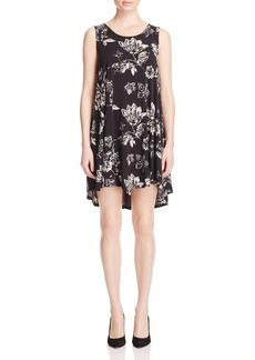Karen Kane Maggie Floral Print High/Low Dress
