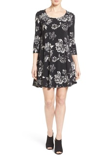 Karen Kane 'Maggie' Floral Print Trapeze Dress