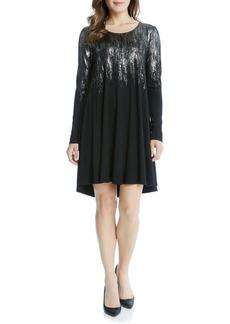 Karen Kane Maggie Metallic Print Swing Dress