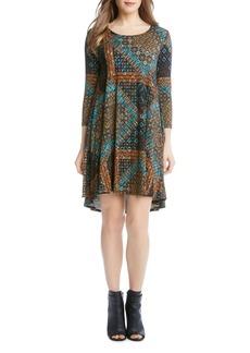 Karen Kane Maggie Mosaic Print Dress
