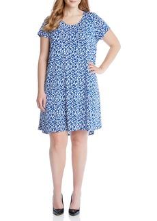 Karen Kane Maggie Print Trapeze Dress (Plus Size)