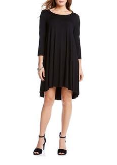 Karen Kane Maggie Shirred Knit Trapeze Dress
