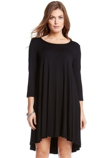 Karen Kane 'Maggie' Three Quarter Sleeve Trapeze Dress (Regular & Petite)