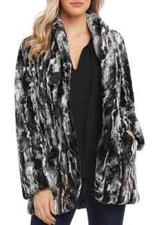 Karen Kane Marbled Faux-Fur Jacket
