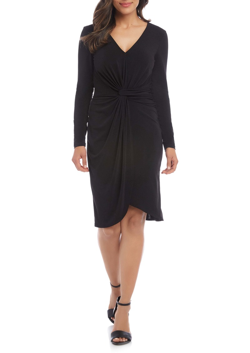 Karen Kane Meghan Long Sleeve Faux Wrap Dress