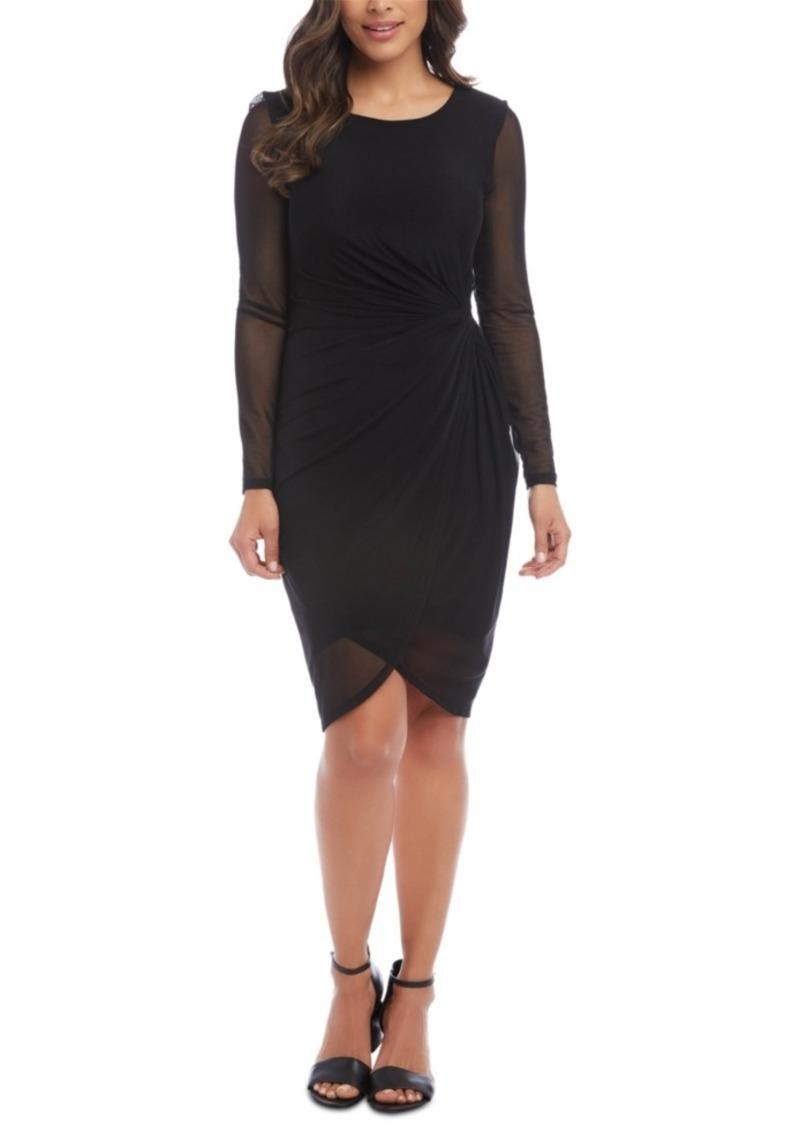 Karen Kane Mesh-Trim Bodycon Dress