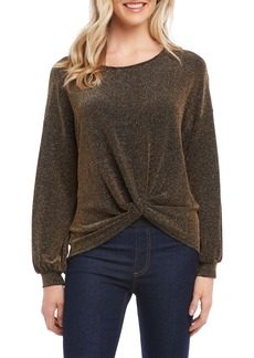 Karen Kane Metallic Front Twist Top