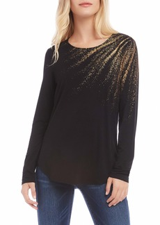 Karen Kane Metallic Graphic Top