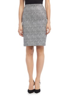 Karen Kane Metallic Jacquard Cotton Blend Pull-On Skirt