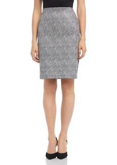 Karen Kane Metallic Jacquard Pencil Skirt