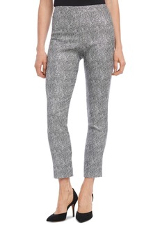 Karen Kane Metallic Jacquard Piper Pants