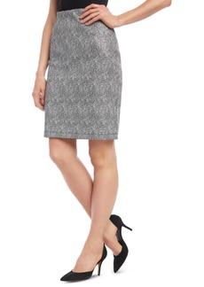 Karen Kane Metallic Jacquard Skirt