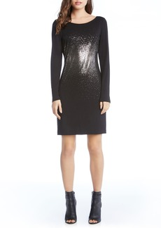 Karen Kane Metallic Ombré Sheath Dress