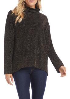 Karen Kane Metallic Turtleneck Sweater