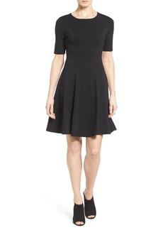 Karen Kane 'Michelle' Short Sleeve Fit & Flare Dress