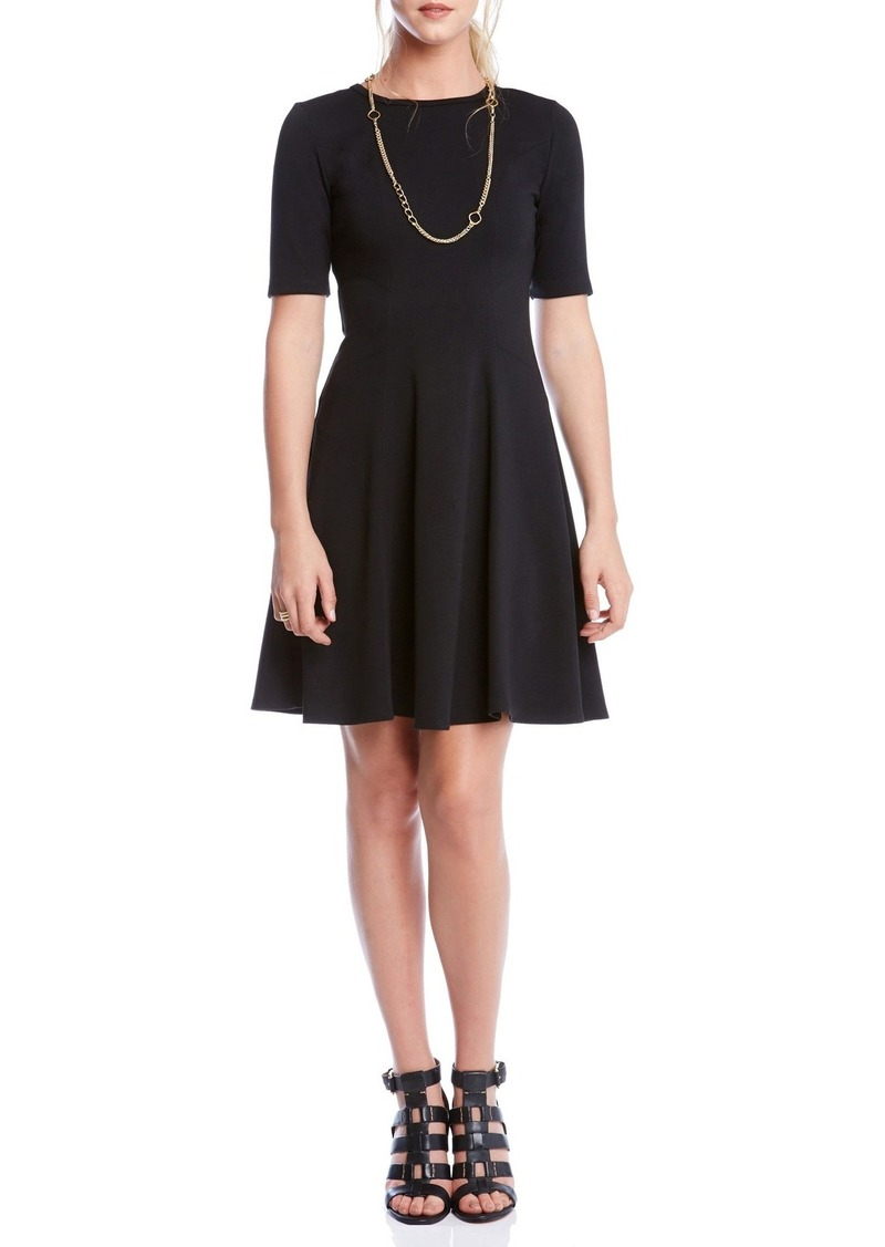 Karen Kane 'Michelle' Short Sleeve Ponte Fit & Flare Dress