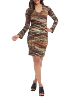 Karen Kane Mirage-Print Sheath Dress