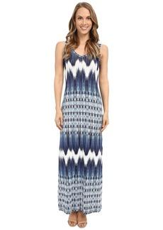 Karen Kane Mixed Chevron Alana Maxi Dress