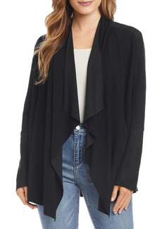 Karen Kane Mixed-Media Drape Front Jacket - 100% Exclusive