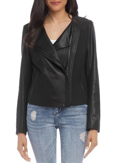 Karen Kane Mixed-Media Moto Jacket