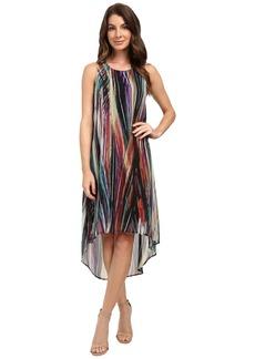 Karen Kane Modern Art Hi-Lo Dress