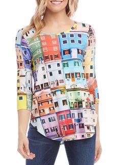 Karen Kane Multicolor House-Print Tee