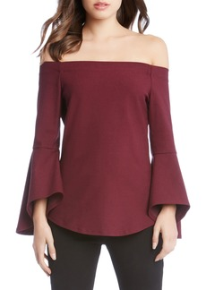 Karen Kane Off the Shoulder Bell Sleeve Top