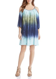 Karen Kane Ombr� Cold Shoulder Dress