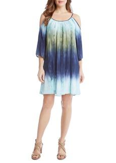 Karen Kane Ombré Cold Shoulder Trapeze Dress
