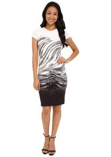 Karen Kane Ombre Graphic Sheath Dress