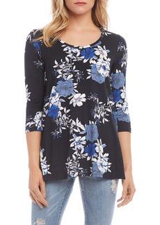 Karen Kane Onyx Bloom Knit Top
