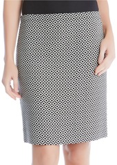 KAREN KANE Optic Bloom Diamond Link Jacquard Skirt