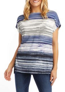 Karen Kane Oversize Variegated Stripe Boat Neck Top