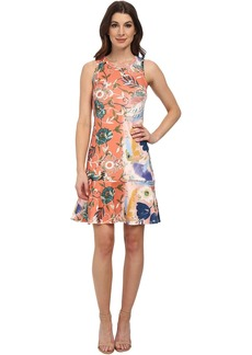 Karen Kane Painted Floral Scuba Dress