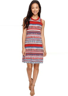 Karen Kane Painted Stripe Halter Dress