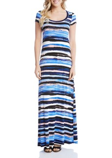 Karen Kane Painted Stripe Maxi Dress